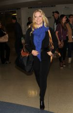 EMILY PROCTER at LAX Airport in Los Angeles