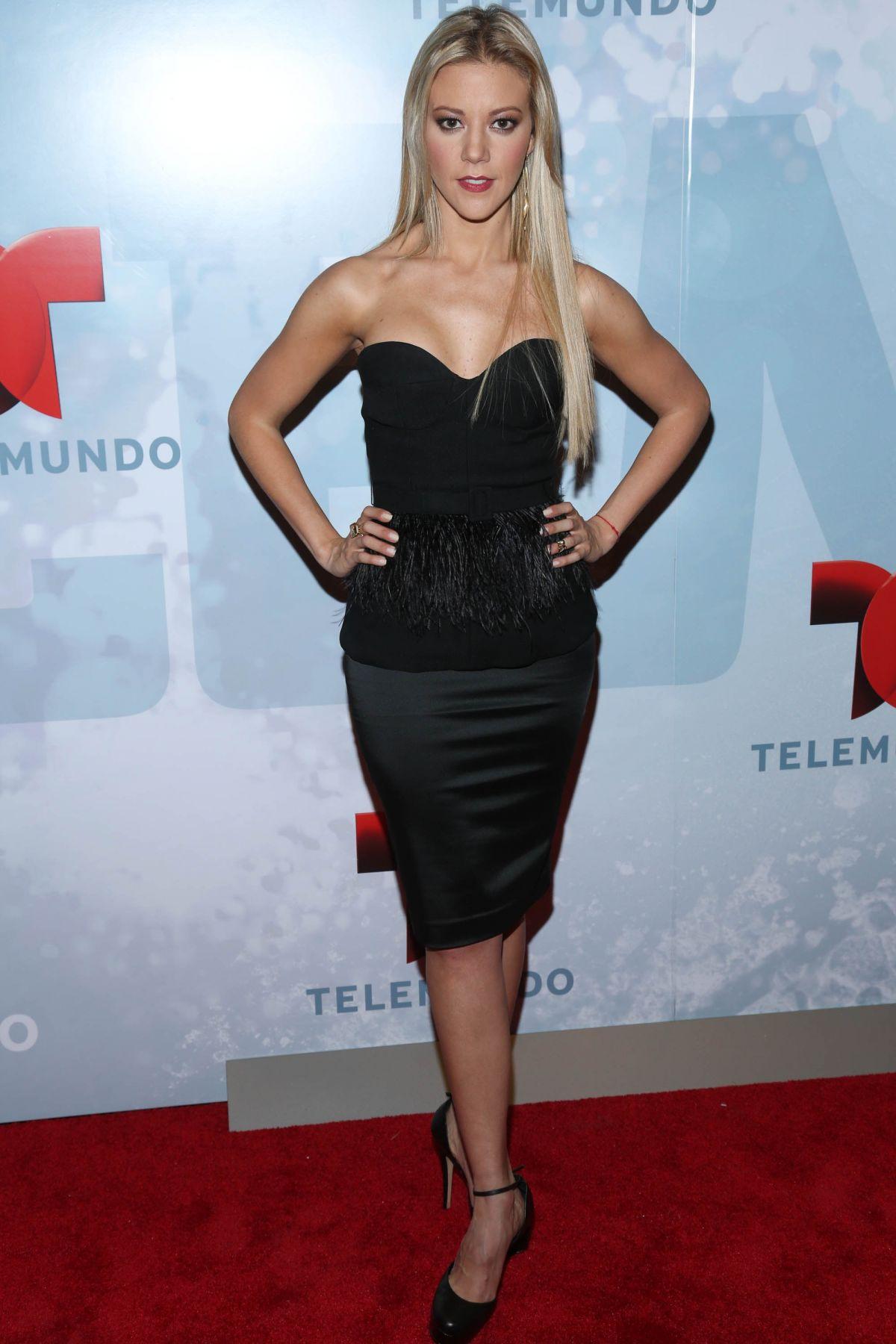 FERNANDA CASTILLO at Telemundo Upfront 2014 in New York