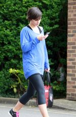 FRANKIE SANDFORD in Tight Leggings Leaves a Gym