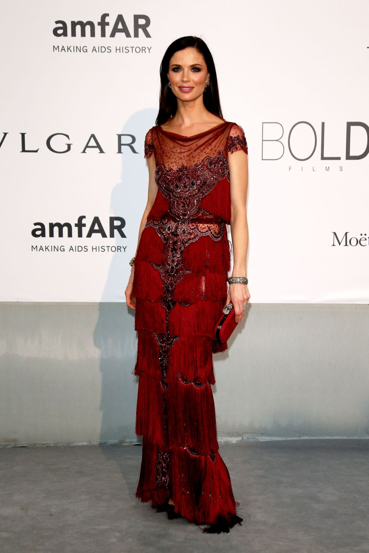 GEORGINA CHAPMAN at AMFAR's 21st Cinema Against Aids Gala in Cap D'Antibes