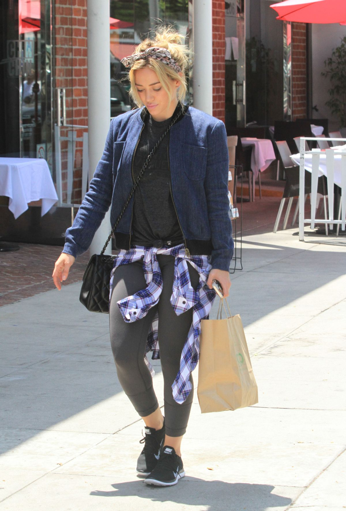 HILARY DUFF Leaves a Nail Salon in Beverly Hills - HawtCelebs