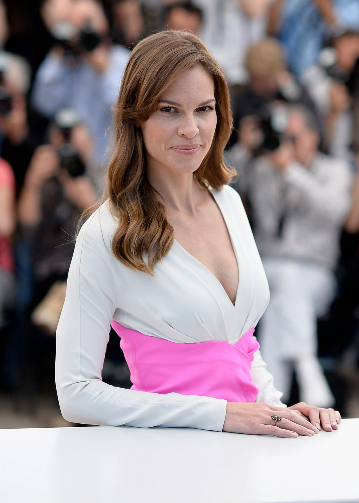 HILARY SWANK at The Homesman Photocall at Cannes Film Festival