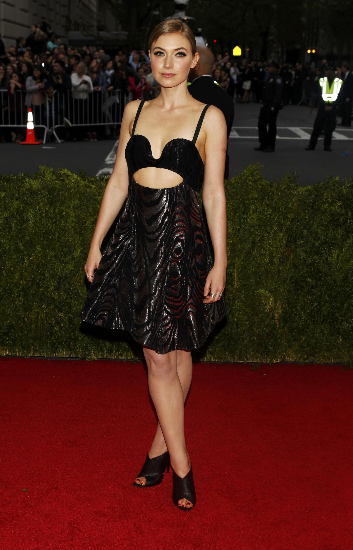 IMOGEN POOTS at MET Gala 2014 in New York