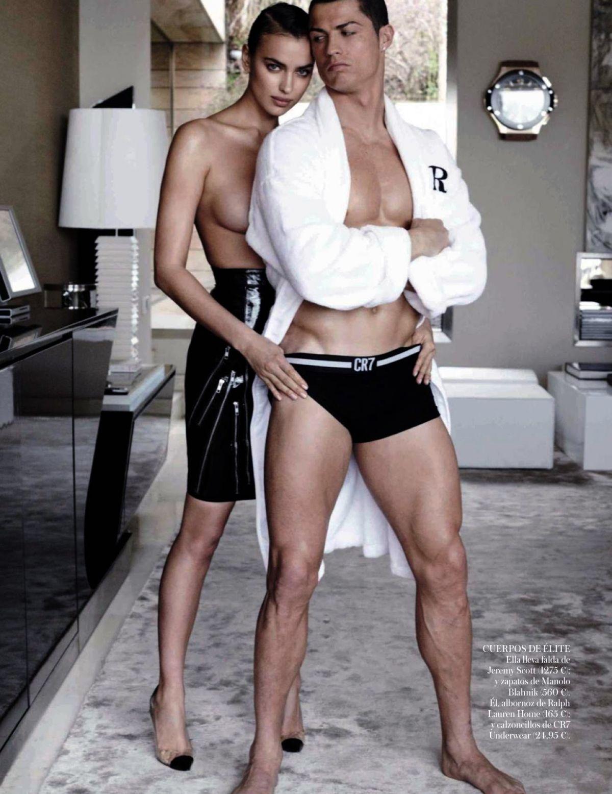 IRINA SHAYK and Cristiano Ronaldo in Vogue Magazine, Spain ...