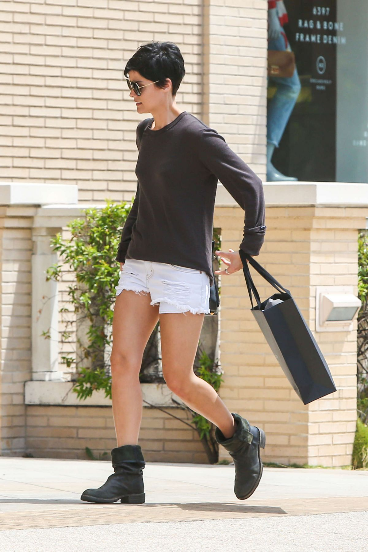 JAIMIE ALXANDER in Shorts Out and About in Los Angeles