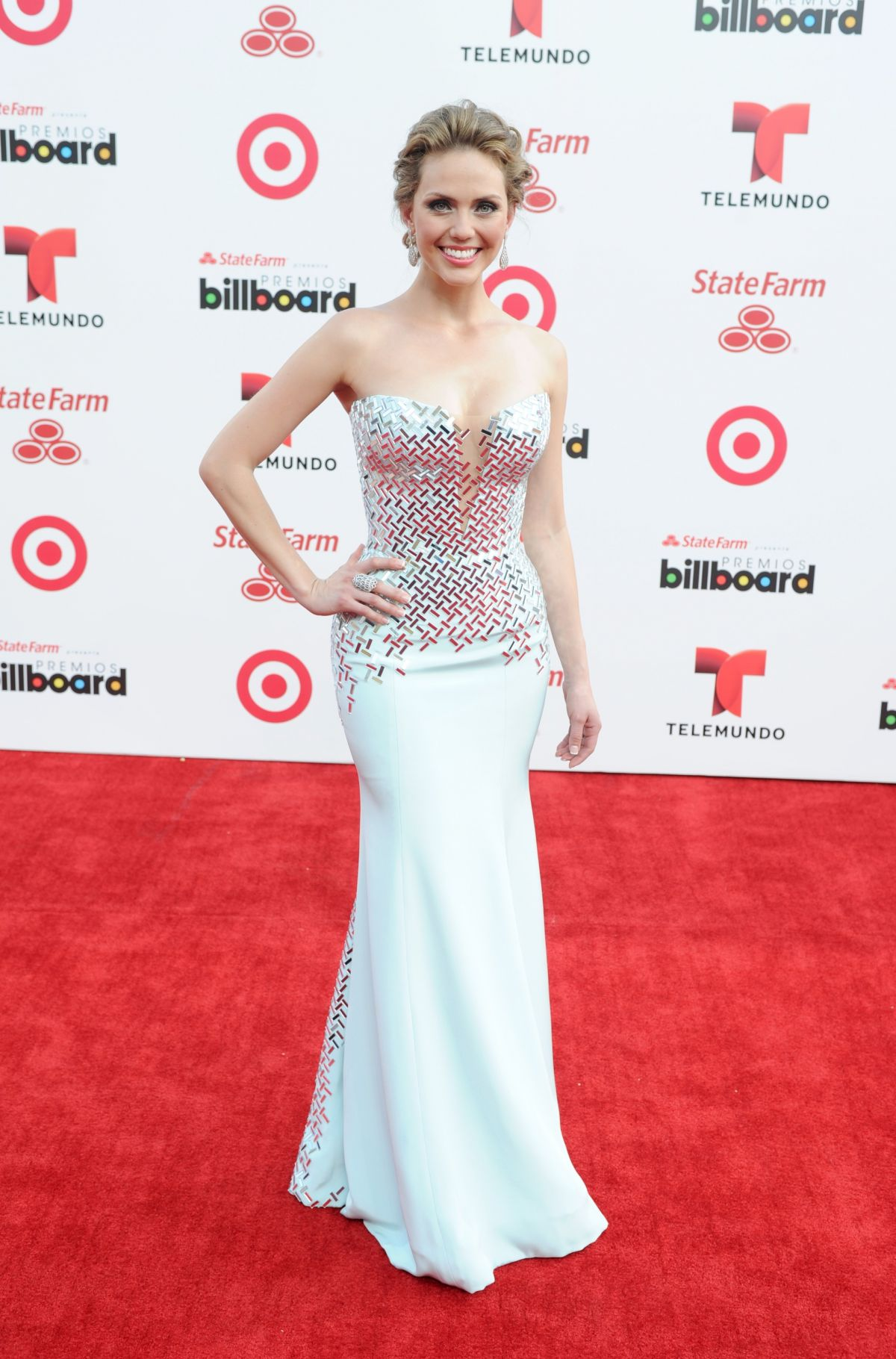 JESSICA CARRILLO at 2014 Billboard Latin Music Awards in Miami