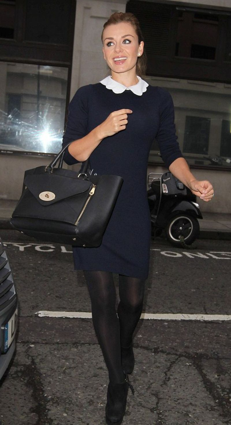 KATHERINE JENKINS Leaves BBC Radio 2 Studios in London