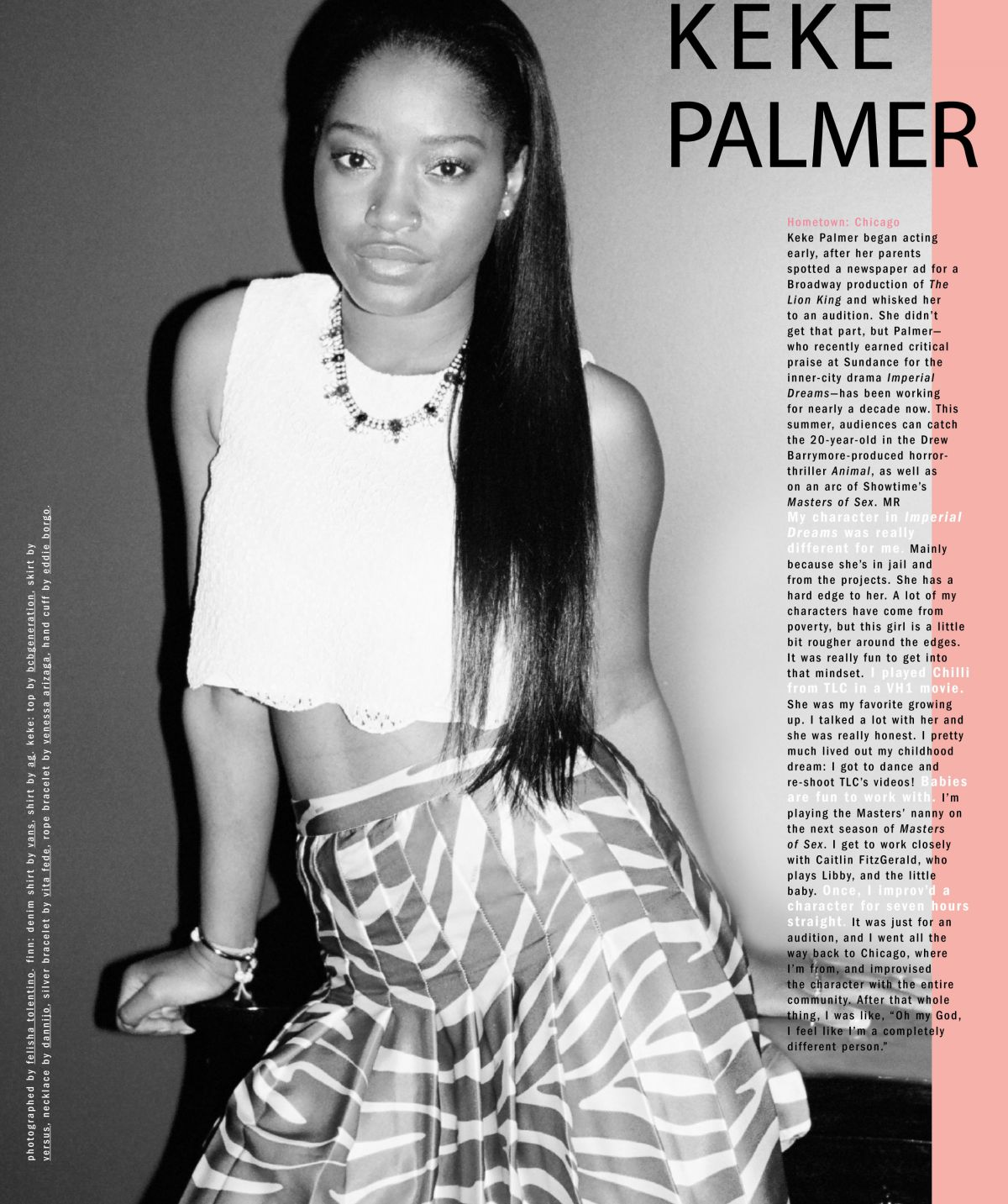 KEKE PALMER in Nylon Magazine, May 2014 Issue