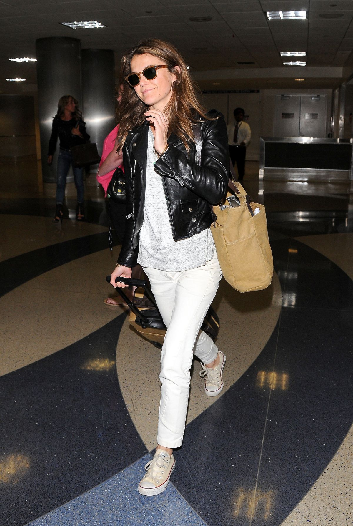 KERI RUSSEL at LAX Airport in Los Angeles
