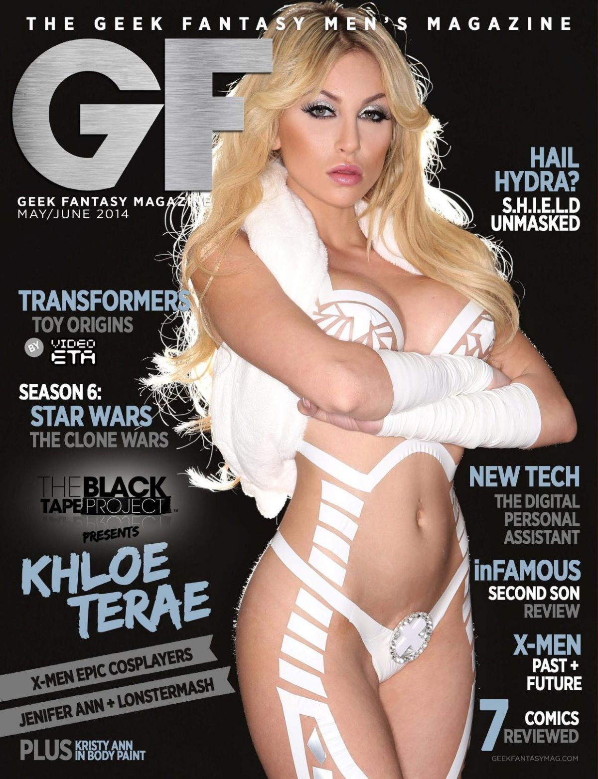 KHLOE TERAE in Geek Fantasy Magazine, May/June 2014 Issue