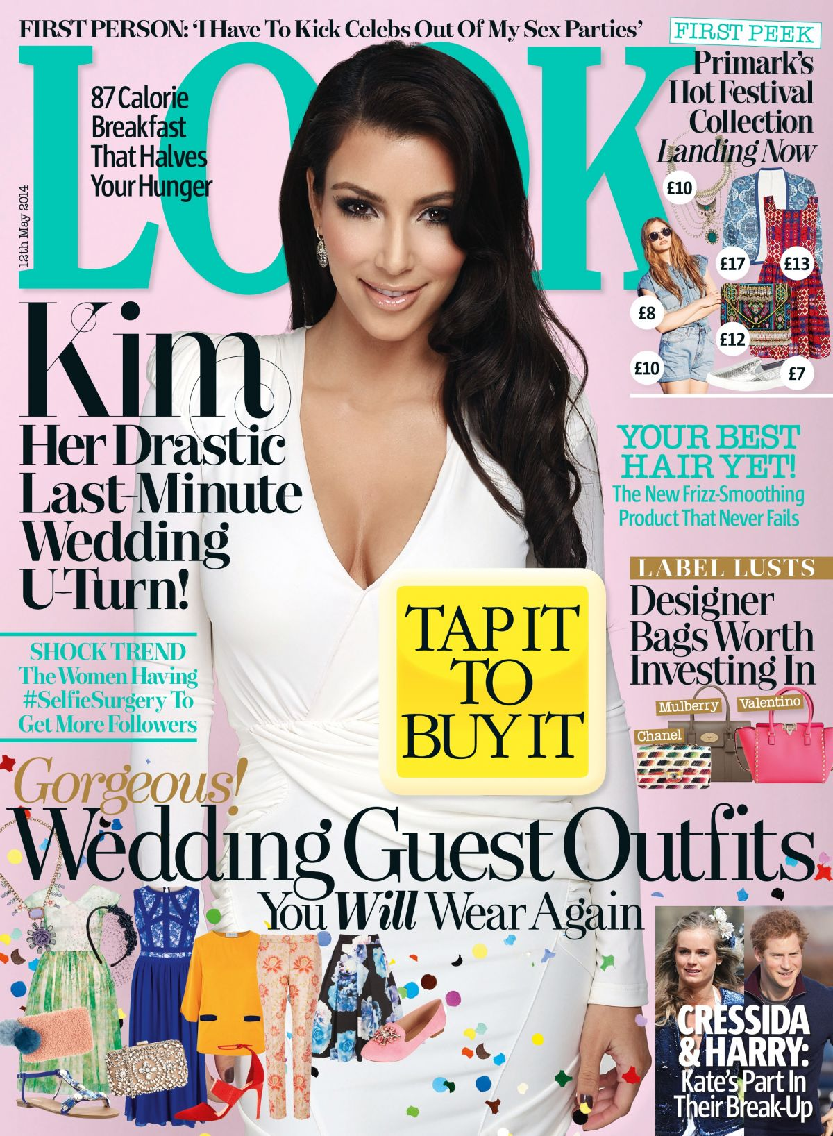 KIM KARDASHIAN at the Cover of Look Magazine, May 2014 Issue