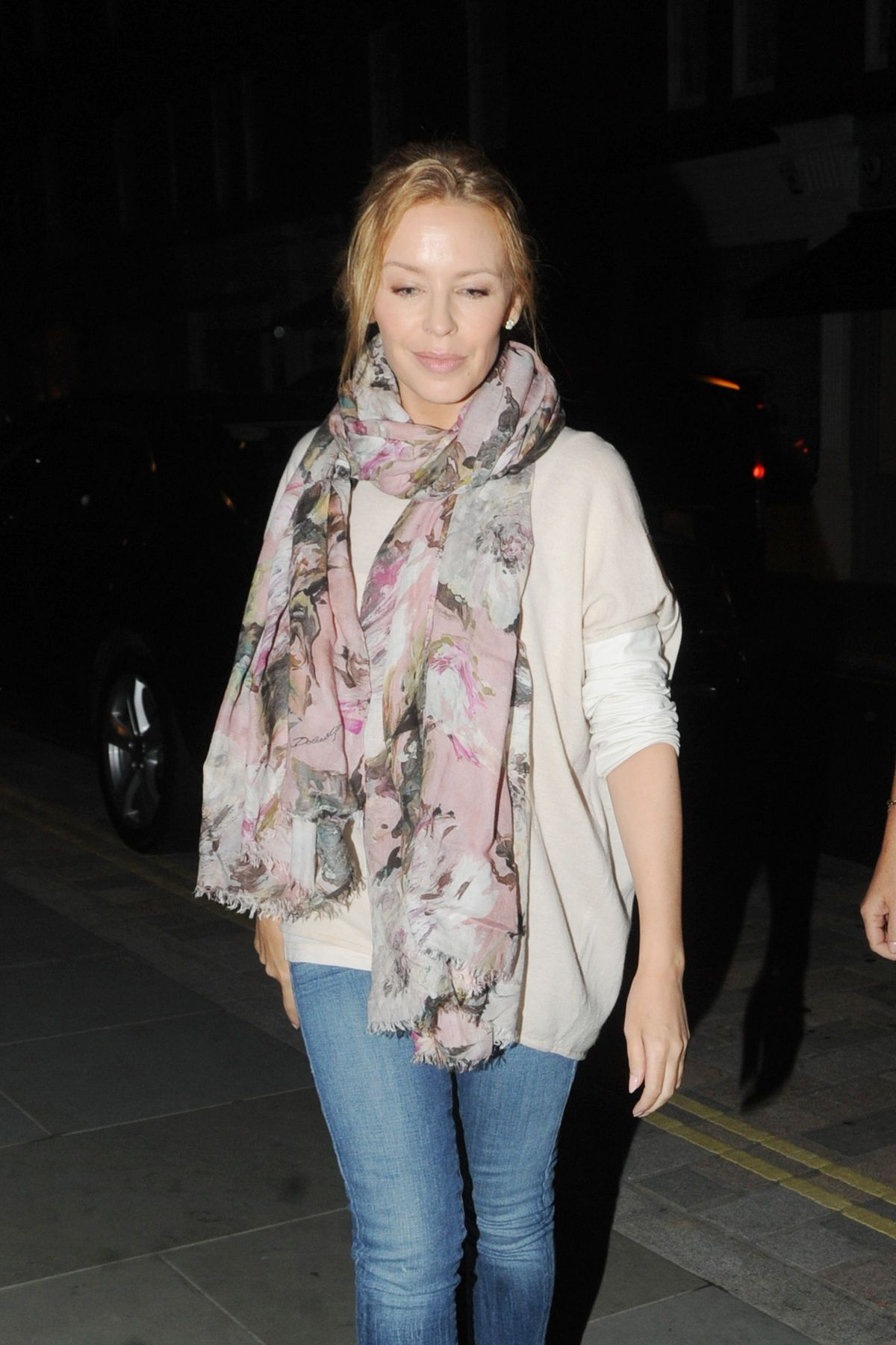 KYLIE MINOGUW Leaves Chiltern Firehouse in London