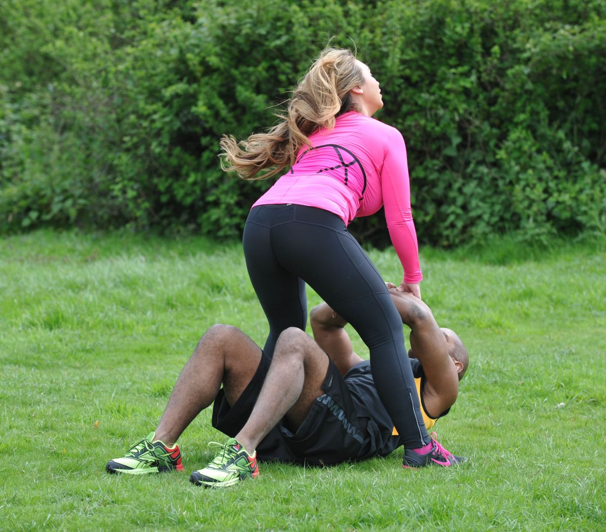 Working Out: LAUREN GOODGER Working Out In King George's Playing Field