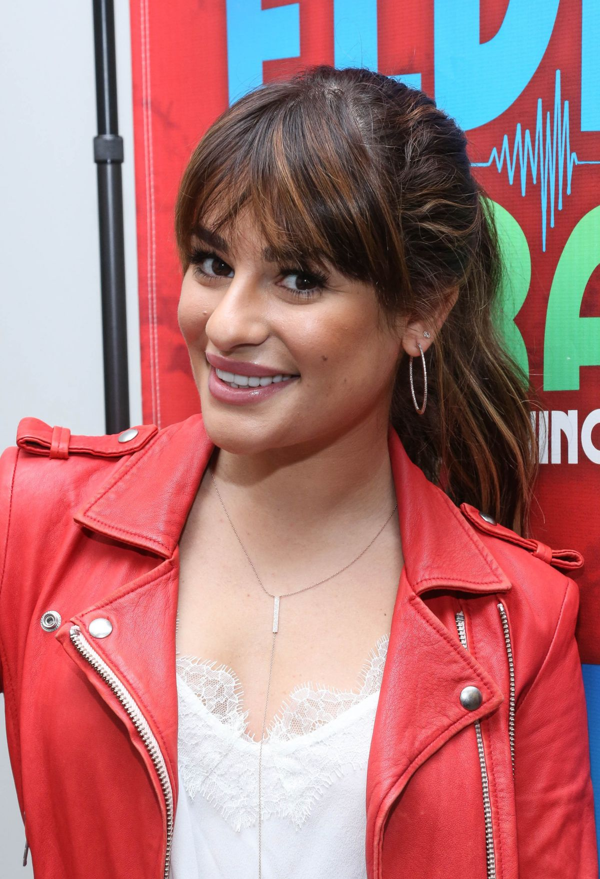 Lea michele at the elvis duran z100 morning show in new york