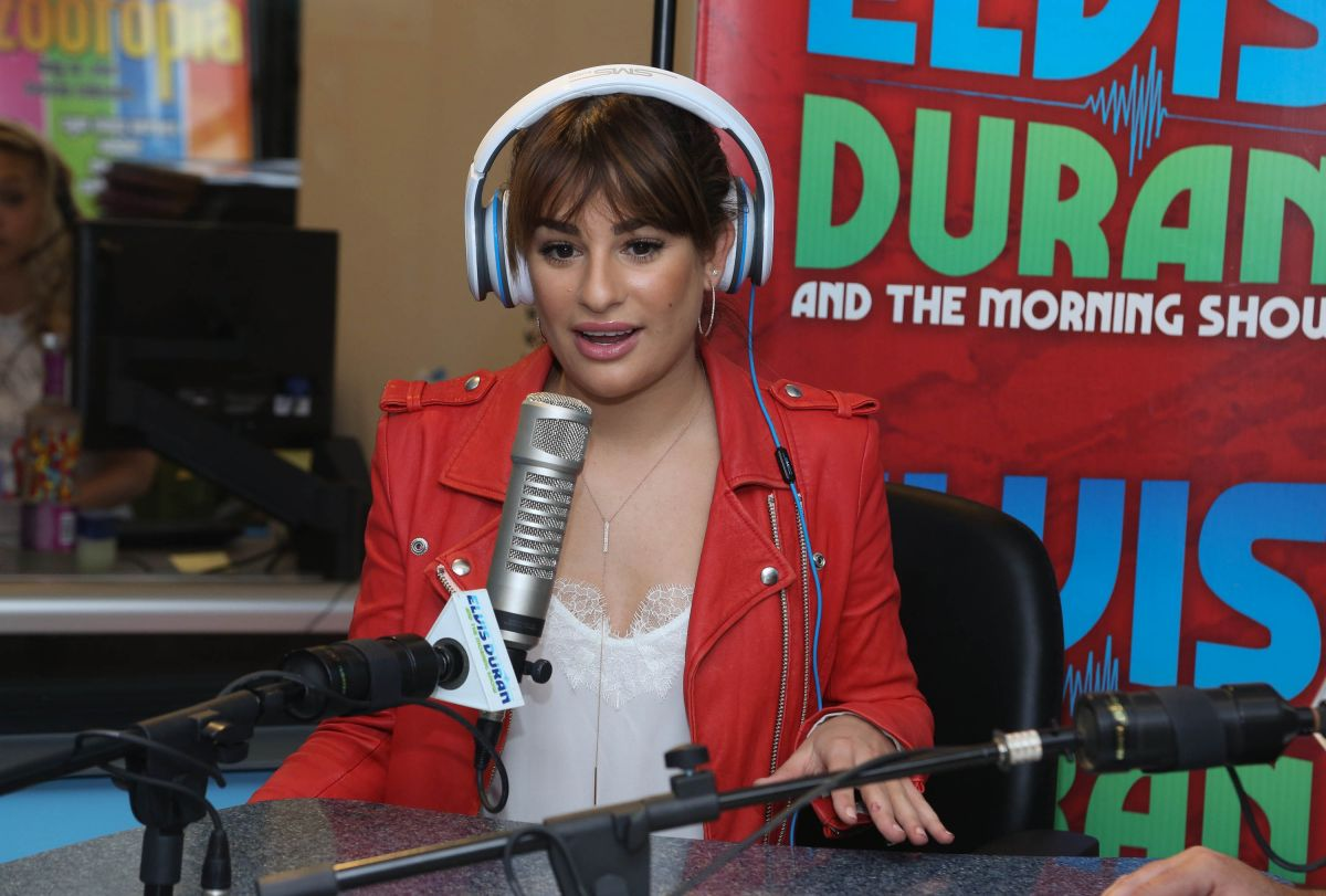 LEA MICHELE at The Elvis Duran Z100 Morning Show in New York ...