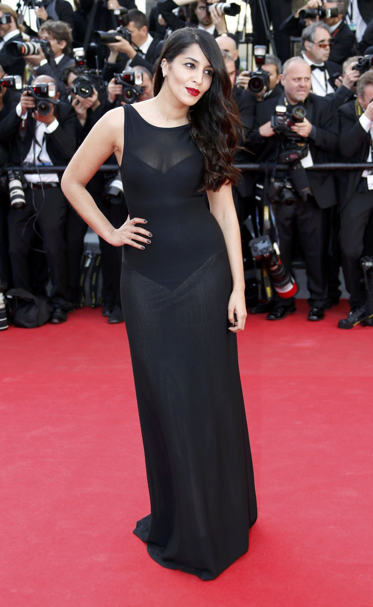 LEILA BEKHTI at The Homesman Premiere at Cannes Film Festival