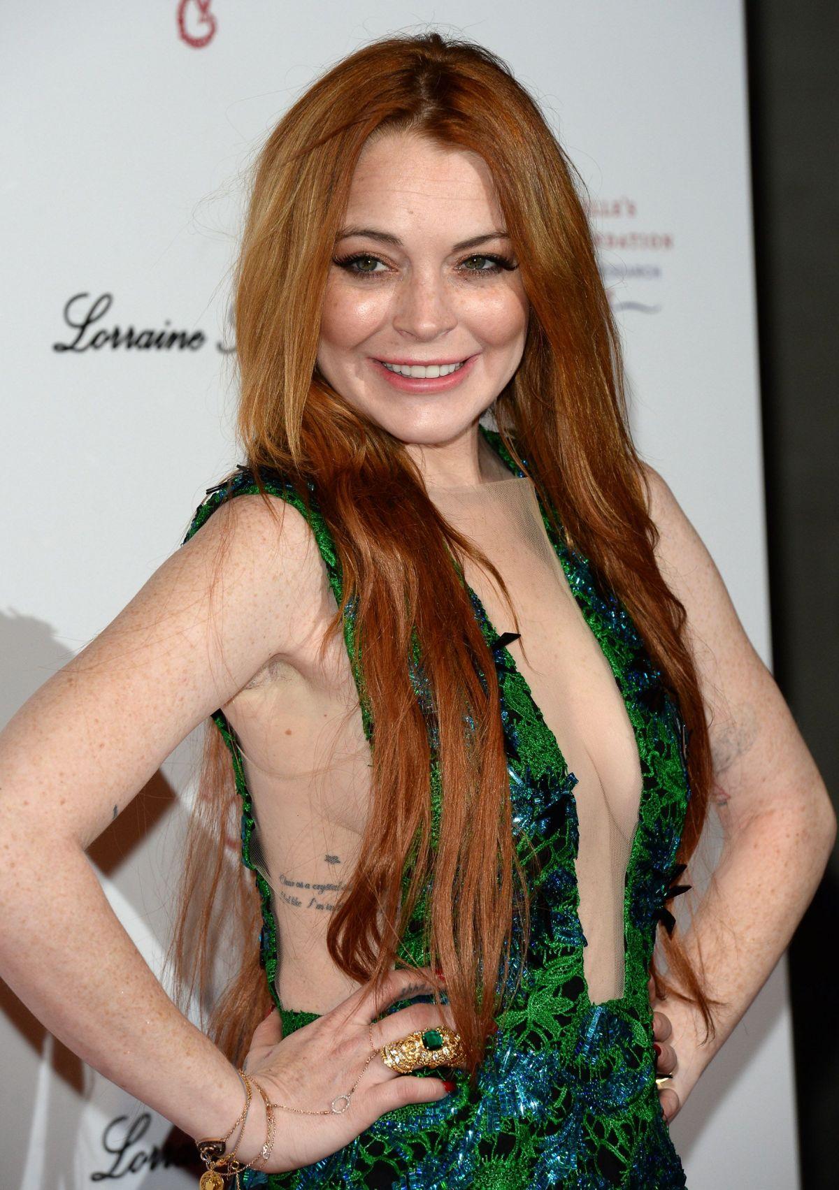 LINDSAY LOHAN at Gabrielle's Gala 2014 in London ... Lindsay Lohan