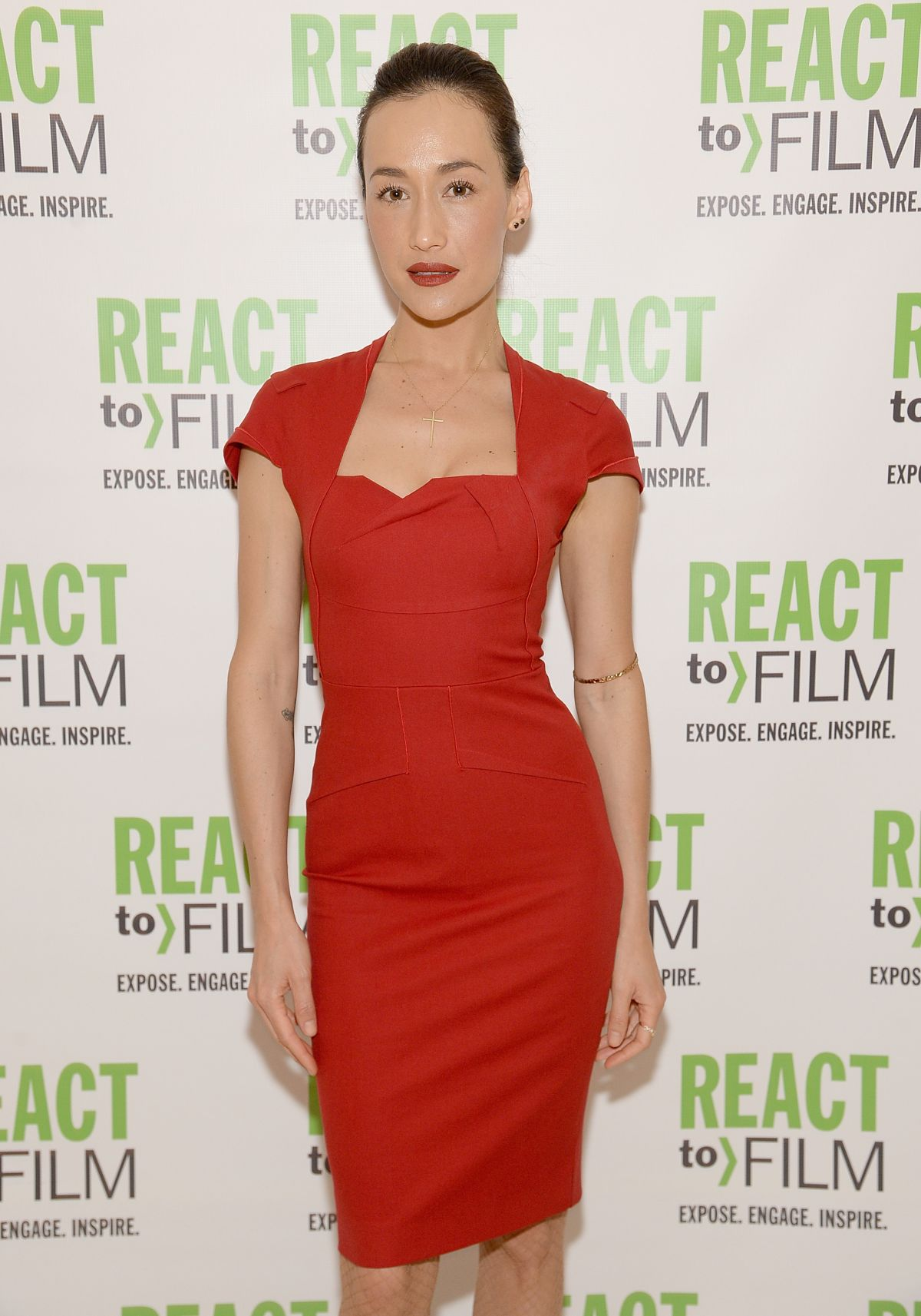 MAGGIE Q at the React to Film Awards in New York