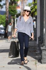 NEVE CAMPBELL Out Shopping in Sherman Oaks