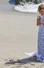NICOLE SCHERZINGER in the Set of Her New Music Video at Malibu Beach