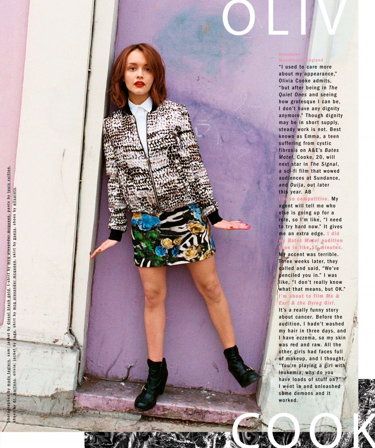 OLIVIA COOKE in Nylon Magazine, May 2014 Issue