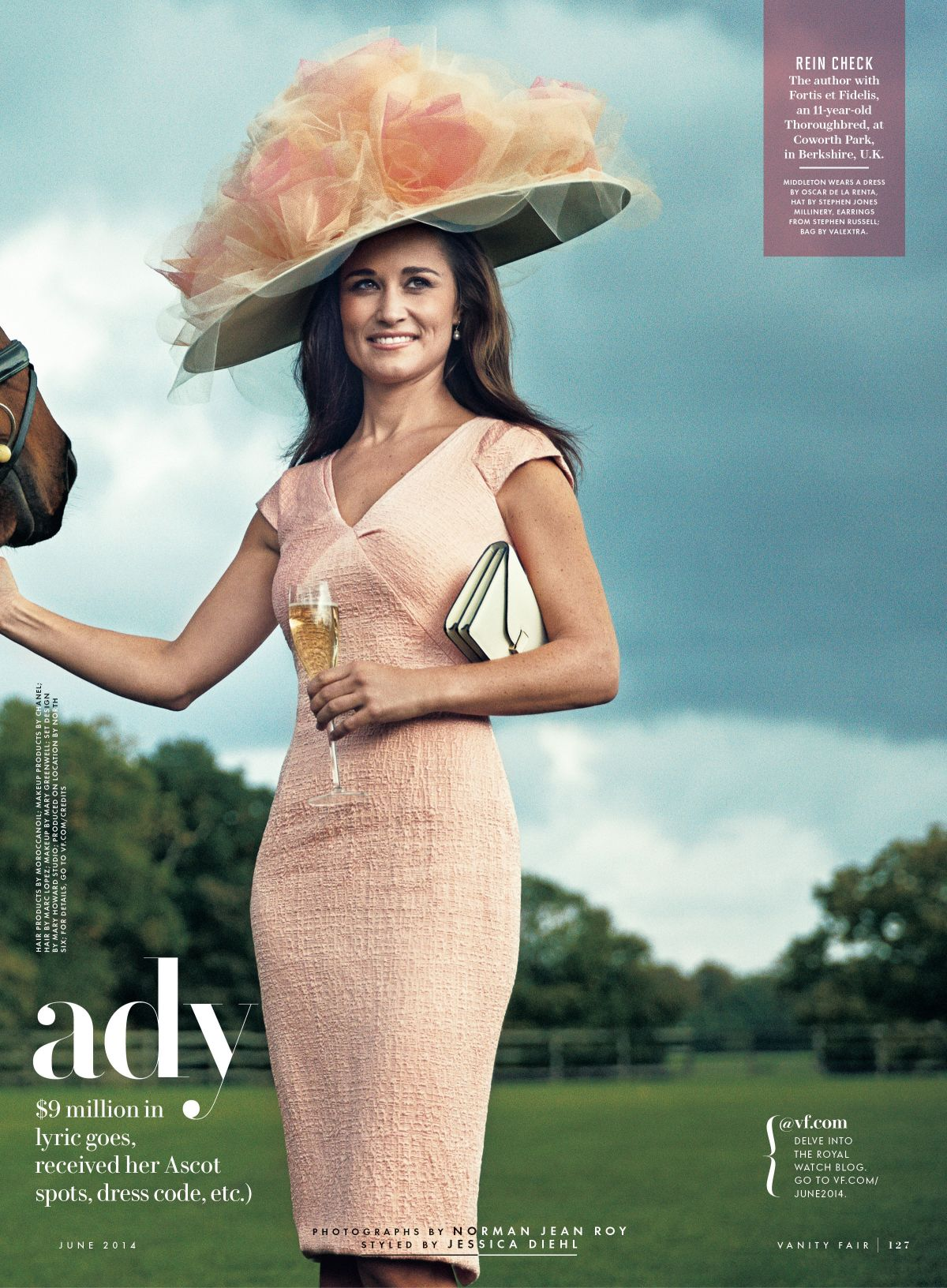 PIPPA MIDDLETON in Vanity Fair magazine, June 2014 Issue