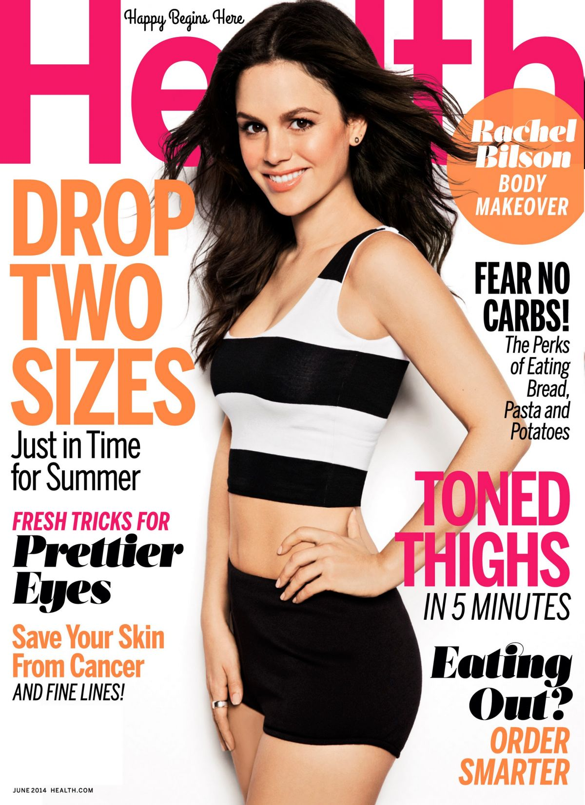 RACHEL BILSON in Health Magazine, June 2014 Issue