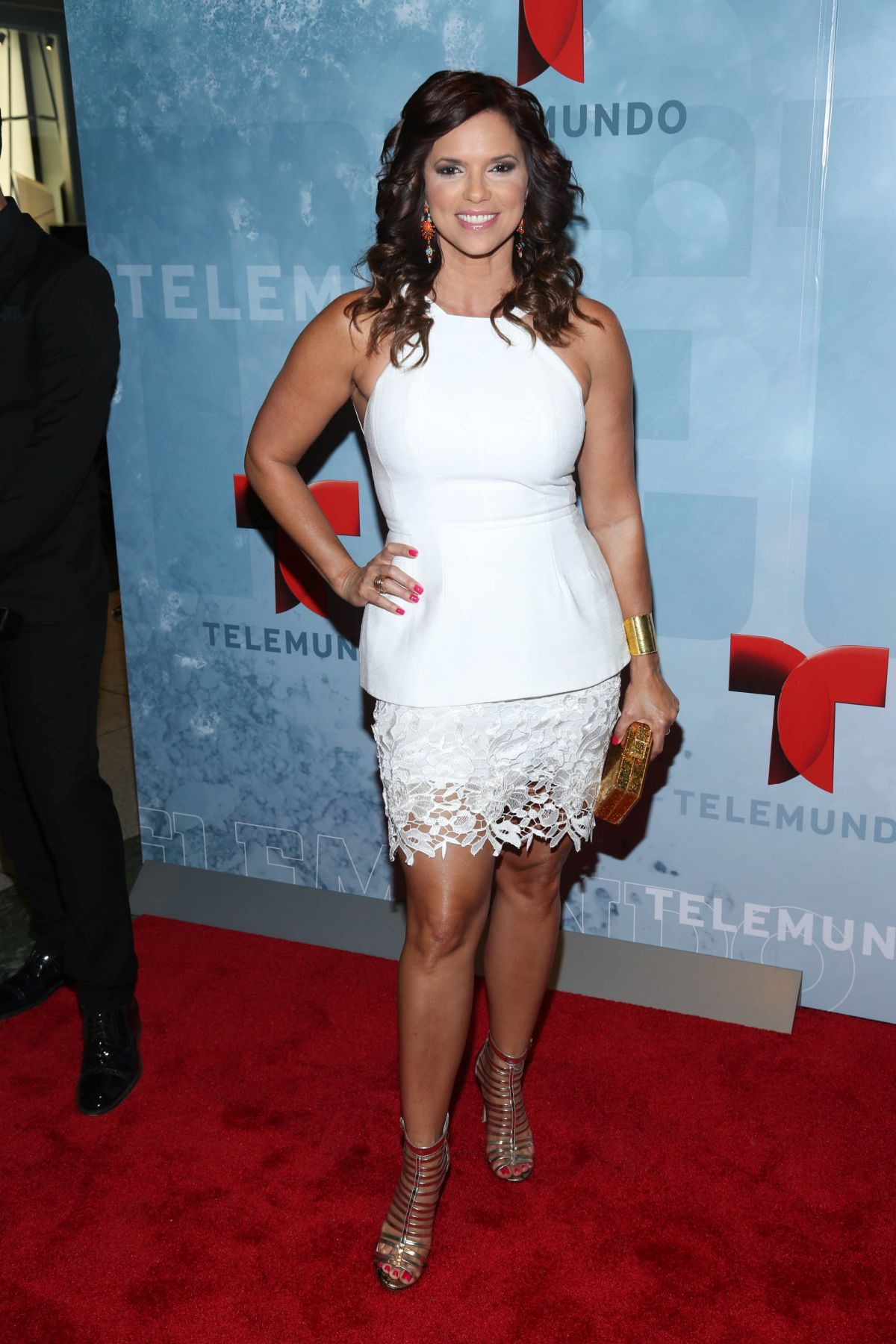 RASHEL DIAZ at Telemundo Upfront 2014 in New York