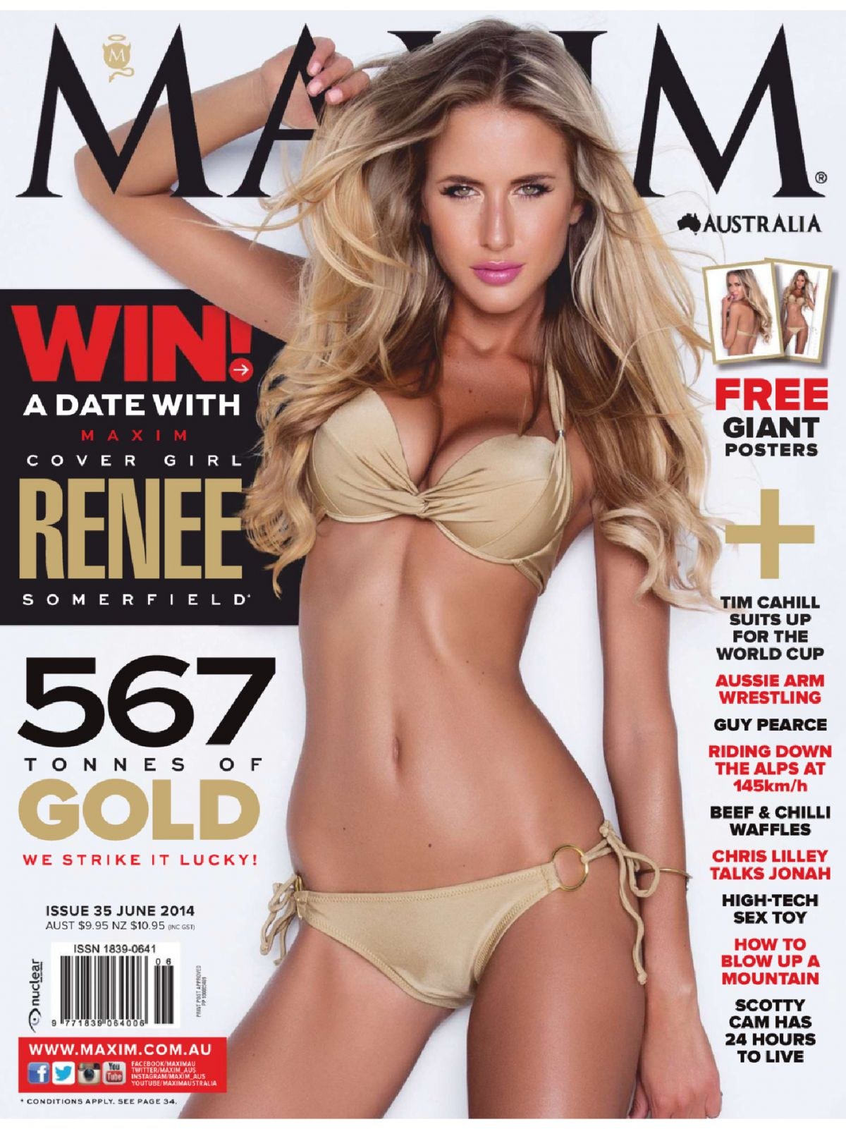 RENEE SOMERFIELD in Maxim Magazine, June 2014 Issue