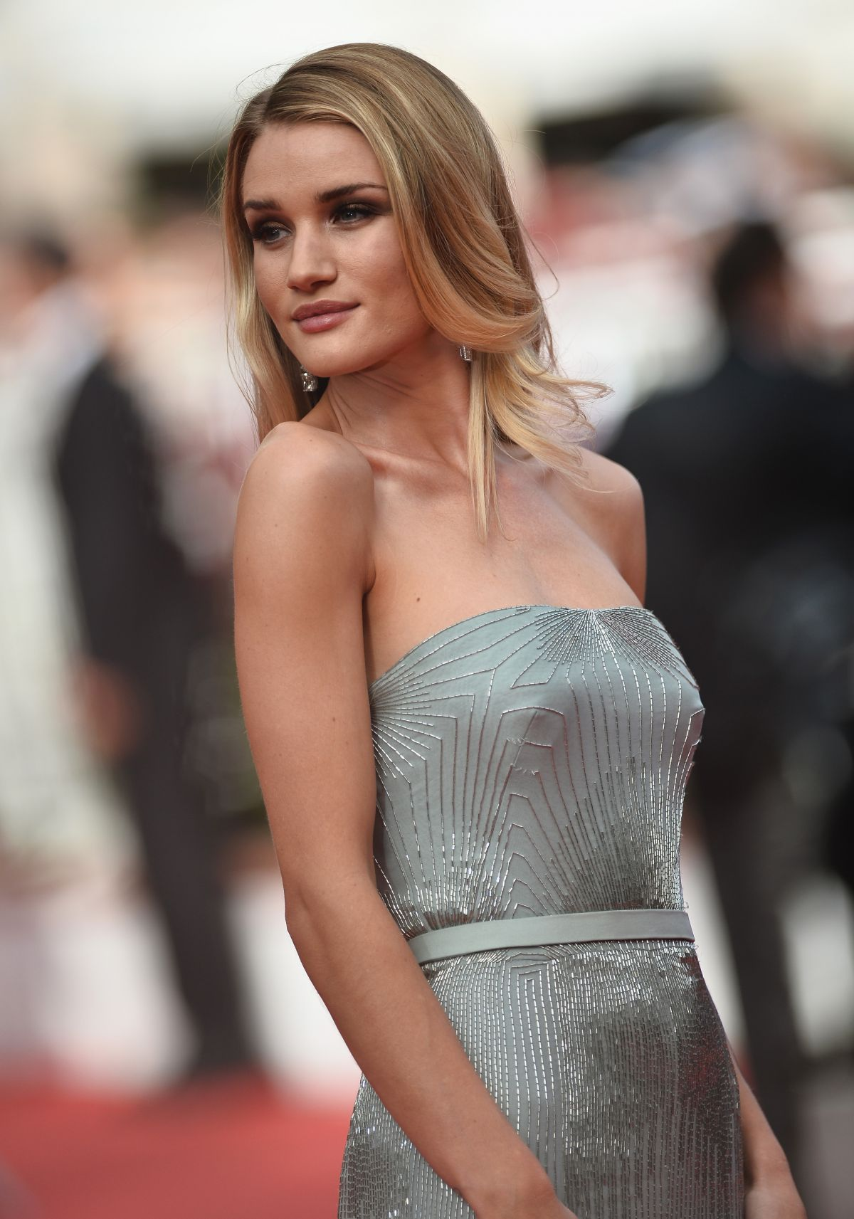 Rosie Huntington Whiteley For Vogue Turkey August 2014: ROSIE HUNTINGTON-WHITELEY At The Search Premiere At Cannes