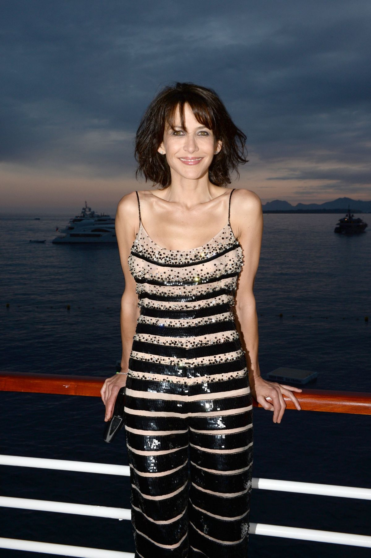Sophie Marceau At Vanity Fair And Armani Party In Cannes