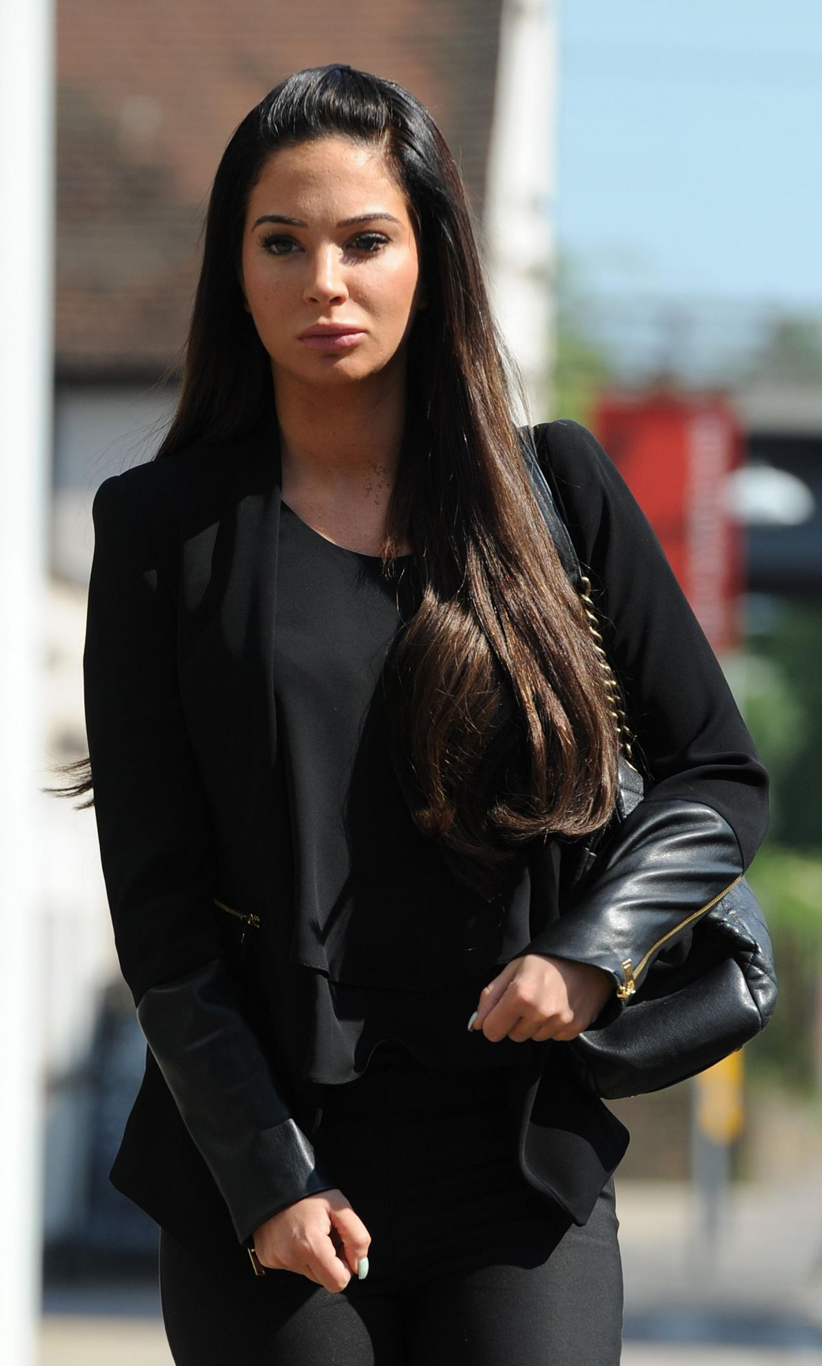 TULISA CONTOSTAVLOS Arrives at Chelmsford Magistrates Court