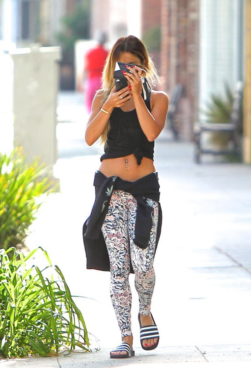 VANESSA HUDGENS in Tights Out and About in Studio City 0405