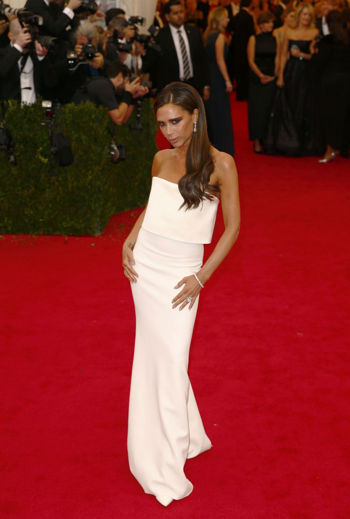 VICTORIA BECKHAM at MET Gala 2014 in New York