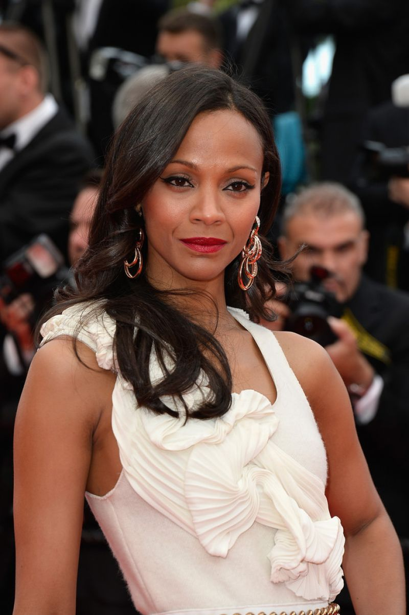 ZOE SALDANA at Grace of Monaco Premiere at Cannes Film Festival 2014