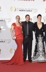 A.J. COOK at 2014 Monte Carlo TV Festival Closing Ceremony