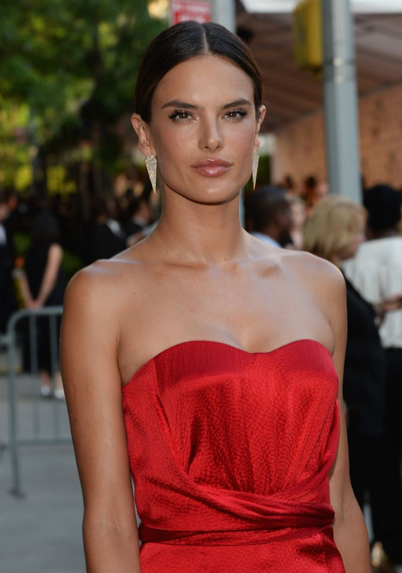 ALESSANDRA AMBROSIO at CFDA Fashion Awards in New York