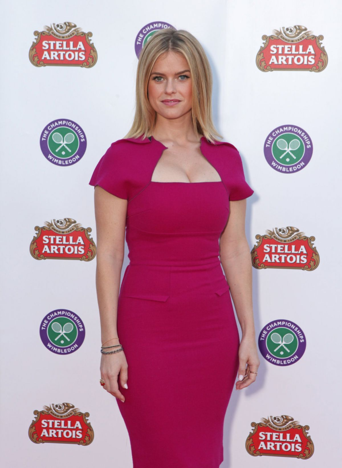 ALICE EVE at Stella Artois Wimbledon Launch Party in London