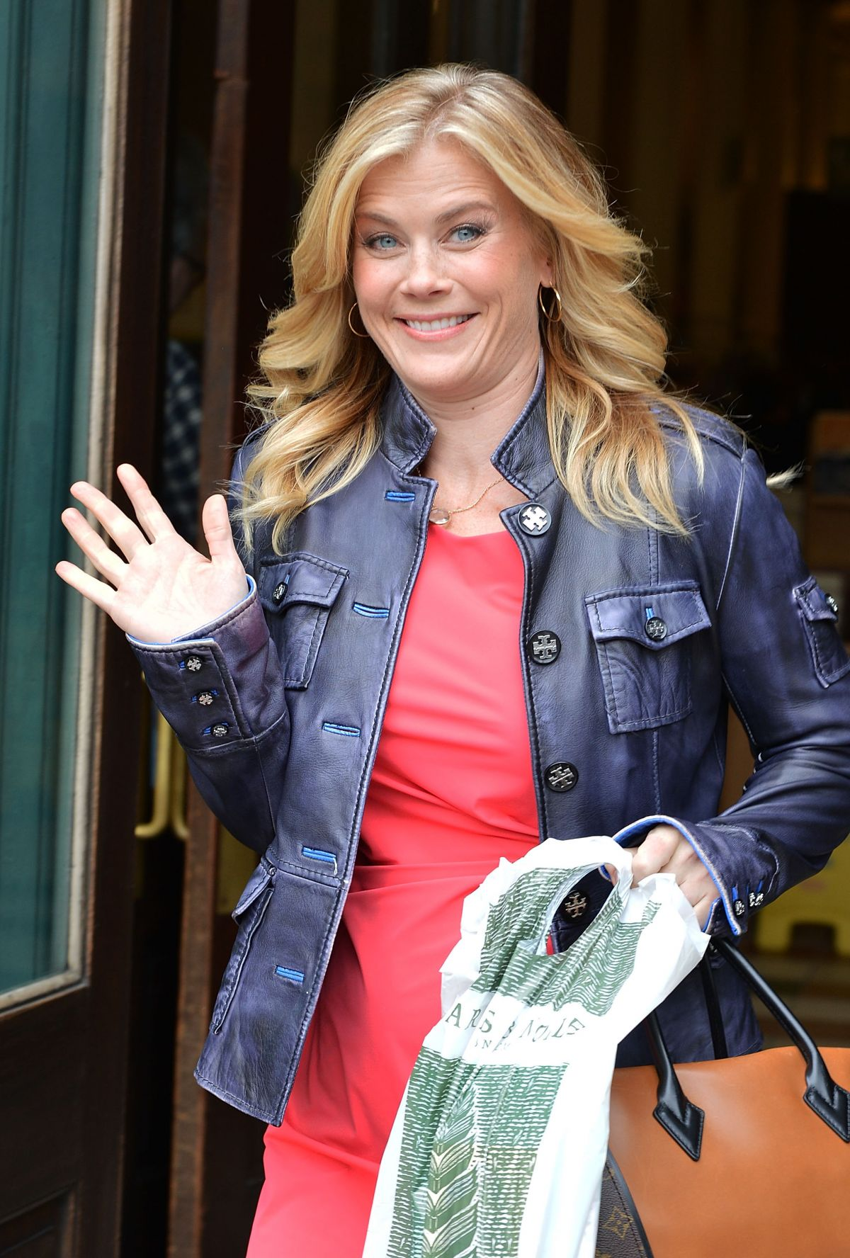 ALISON SWEENEY Leaves Barnes and Noble at Union Square in New York