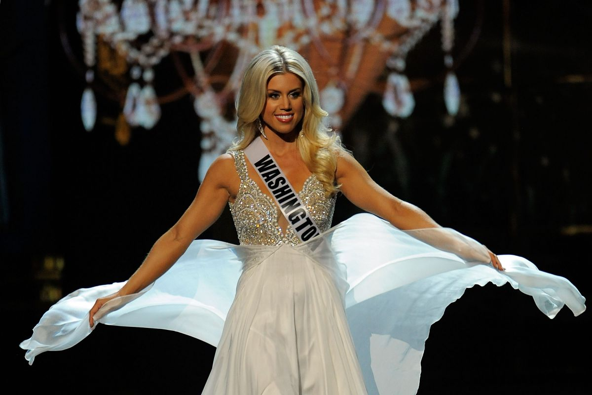 ALLYSON ROWE at Miss USA 2014 Preliminary Competition