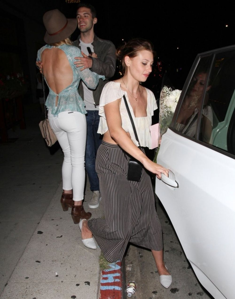 ALY and AJ MICHALKA at Pikey Bar in Hollywood