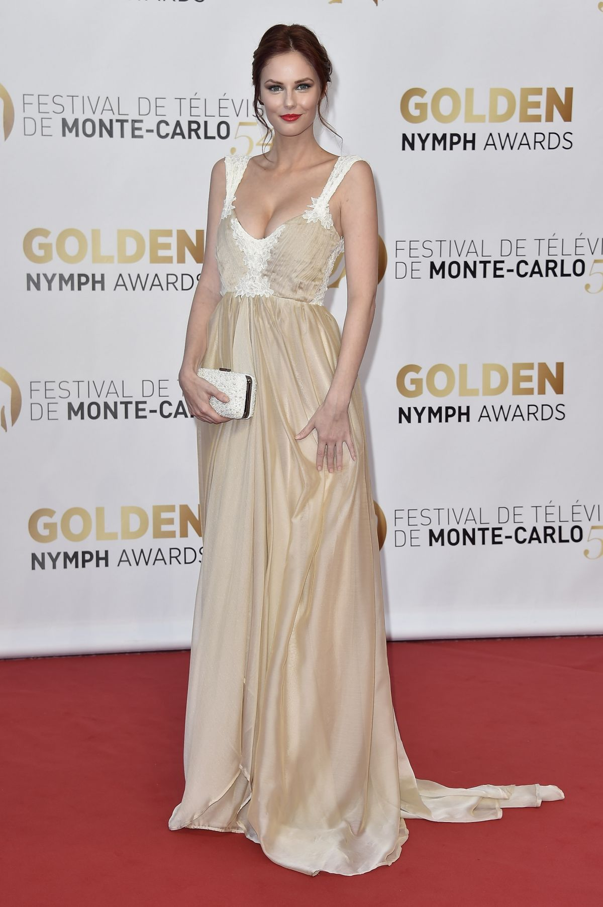 ALYSSA CAMPANELLA at 2014 Monte Carlo TV Festival Closing Ceremony
