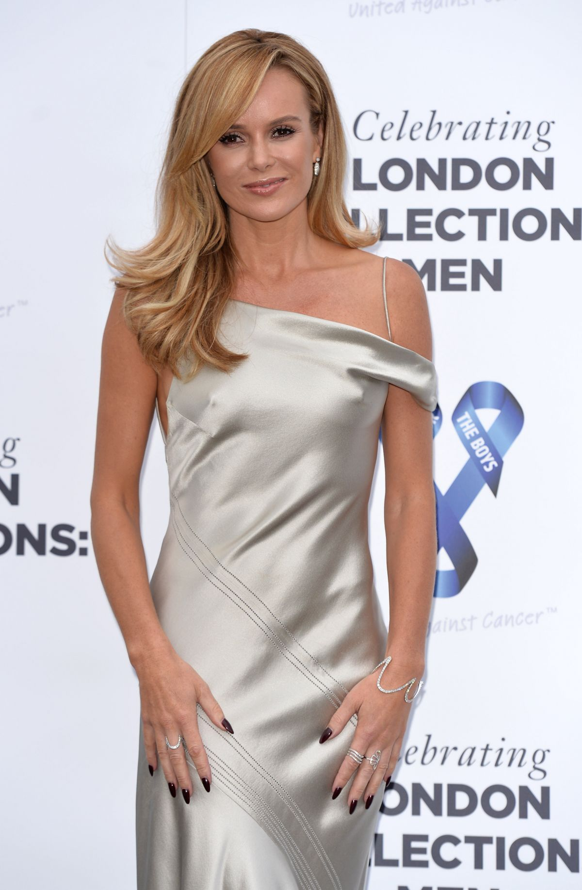 AMANDA HOLDEN at One for the Boys Charity Fashion Ball in London