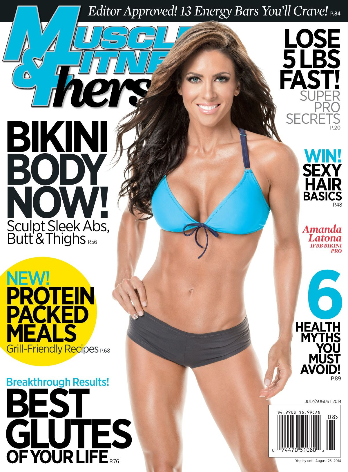 AMANDA LATONA in Muscle and Fitness Hers Magazine, July/August 2014 Issue