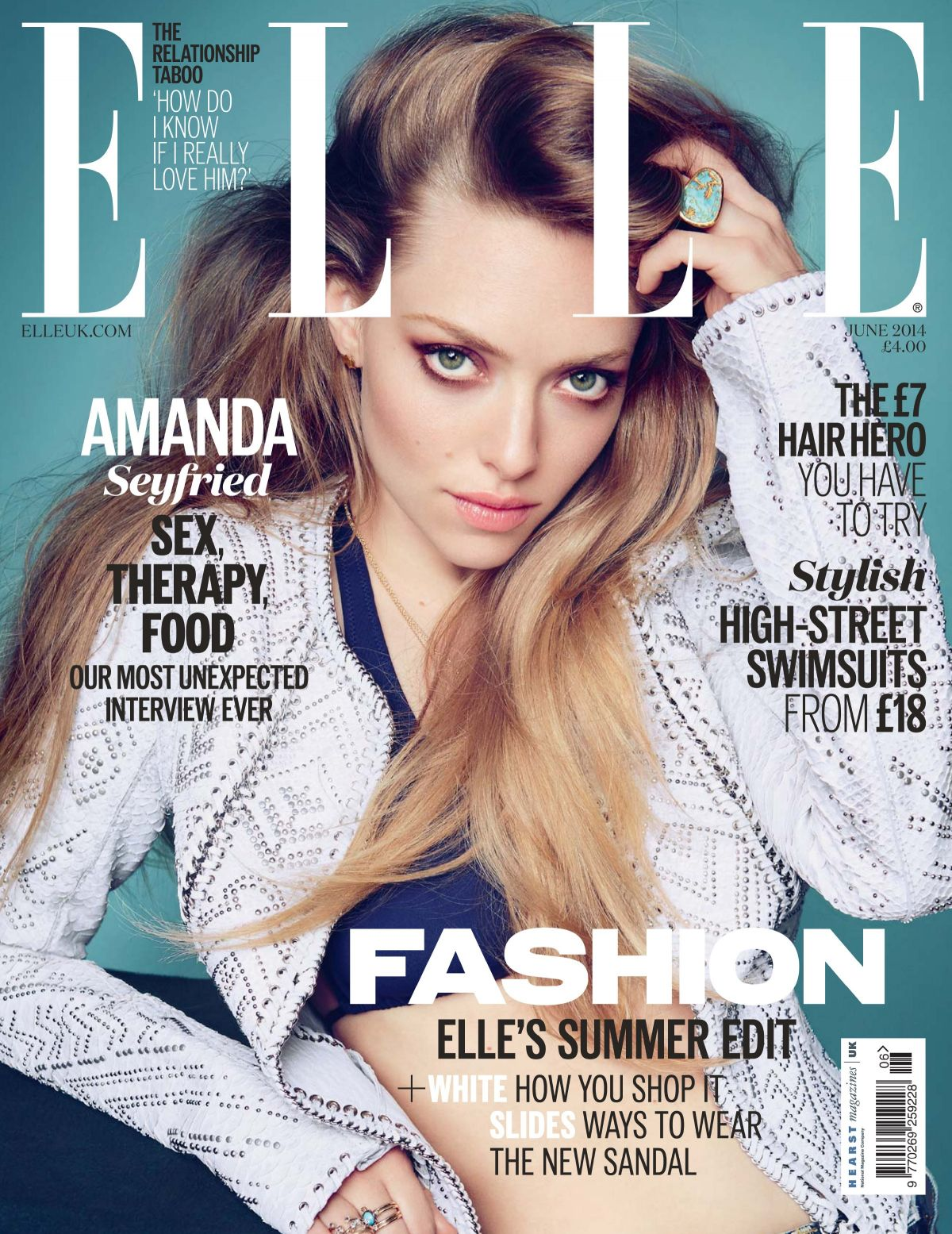 AMANDA SEYFRIED in Elle Magazine, June 2014 Issue