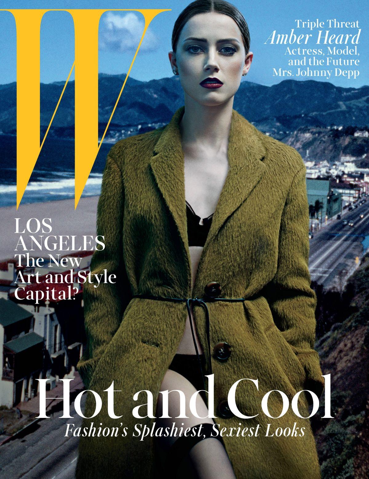 AMBER HEARD in W Magazine, June/July 2014 Issue