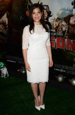 AMERICA FERRERA at How to Train Your Dragon 2 Premiere in London