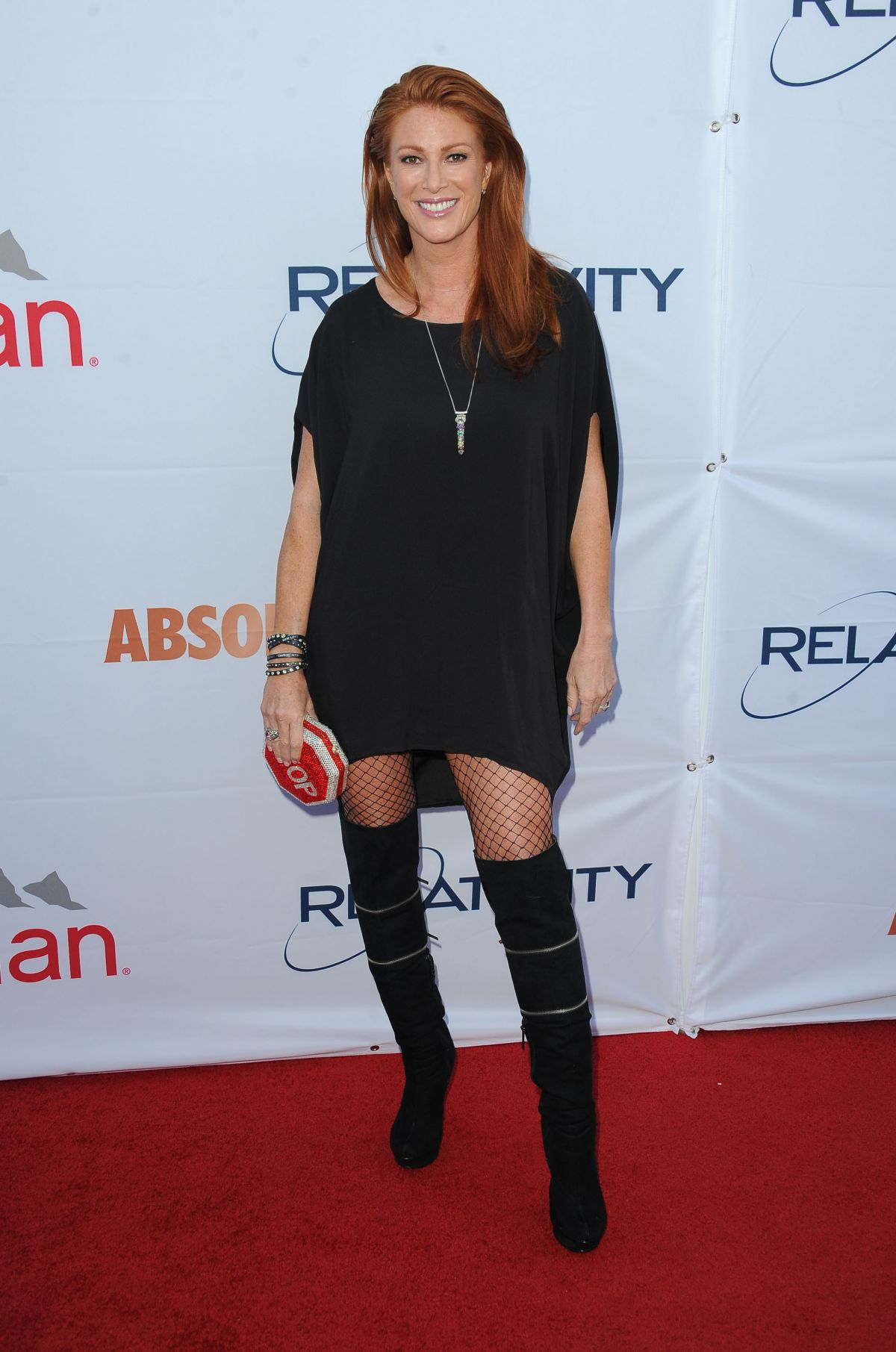 ANGIE EVERHART at Pathway to the Cure Fundraiser Benefit in Santa Monica