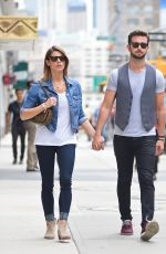 ASHLEY GREENE and Paul Khoury Out and About in New York
