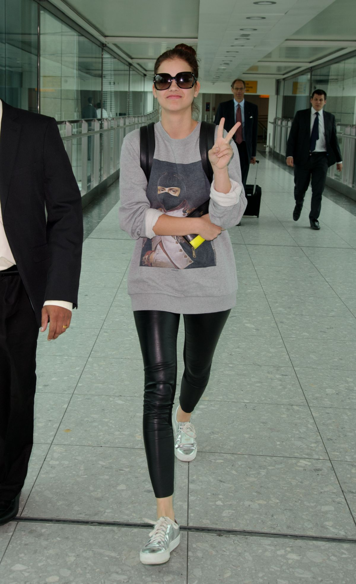Barbara Palvin And Bella Thorne BARBARA PALVIN at Heathrow